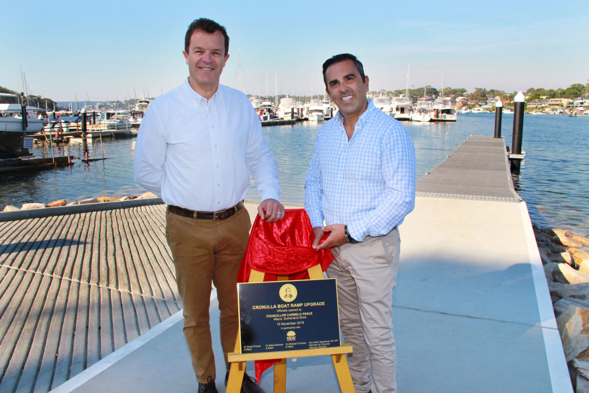 $1.9 MILLION BOAT RAMP UPGRADE NOW COMPLETE AT CRONULLA